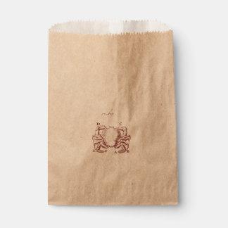 Vintage Crab Illistration Favor Bag