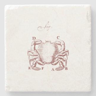 Vintage Crab Illistration Stone Coaster