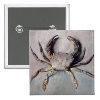 Vintage Crab Painting Button