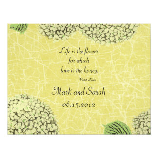 Vintage Crackle Hydrangeas RSVP Personalized Invite