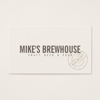 Vintage Craft Rustic Modern III Business Card