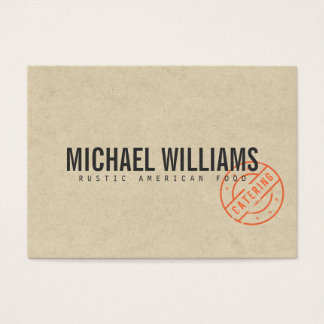 Vintage Craft Rustic Modern Kraft Paper Catering Business Card