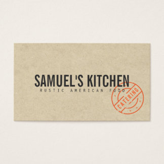 Vintage Craft Rustic Modern Kraft Paper Look Business Card