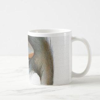 Vintage Crane Illustration Coffee Mug