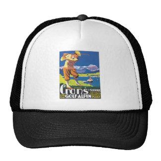 Vintage Crans Golf Alpin Hat