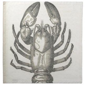 Vintage Crayfish Illustration (1896) Cloth Napkin