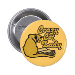 Vintage Crazy Cat Lady Pin