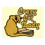 Vintage Crazy Cat Lady Post Cards