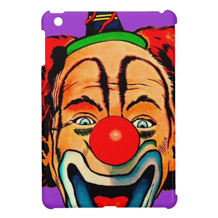 Vintage Crazy Clown iPad Mini Covers