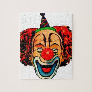 Vintage Crazy Clown Jigsaw Puzzle