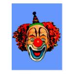 Vintage Crazy Clown Postcard
