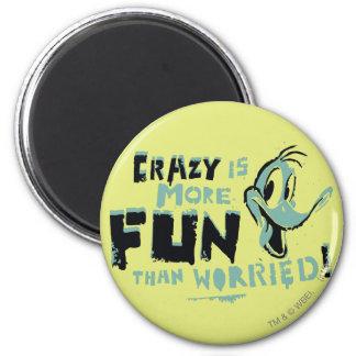 Vintage Crazy DAFFY DUCK™ 2 Inch Round Magnet