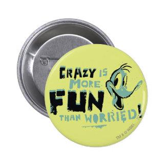 Vintage Crazy Daffy Duck Button
