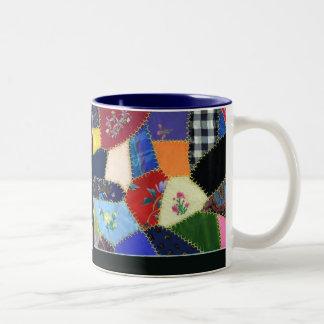 Vintage Crazy Quilt Mug
