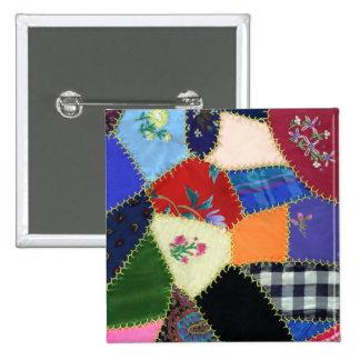 Vintage Crazy Quilt Pin