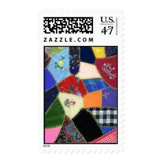 Vintage Crazy Quilt Postage Stamp