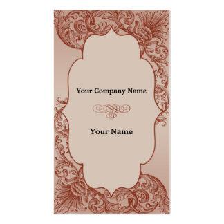 Vintage Cream and Cinnamon Filigree Scroll Business Card