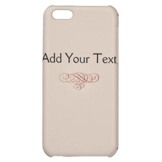 Vintage Cream and Cinnamon Filigree Scroll iPhone 5C Covers