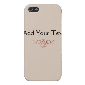Vintage Cream and Cinnamon Filigree Scroll Cover For iPhone 5