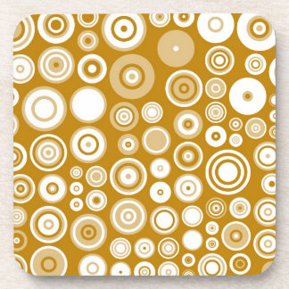 Vintage Cream and White Fifties Abstract Art Beverage Coaster