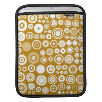Vintage Cream and white Fifties Abstract Art iPad Sleeve
