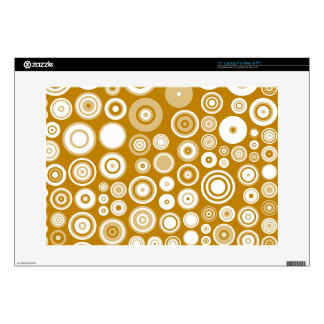 Vintage Cream and White Fifties Abstract Art Laptop Skin