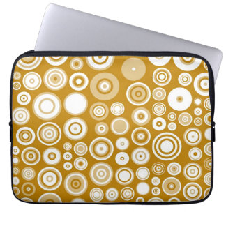 Vintage Cream and white Fifties Abstract Art Laptop Sleeve