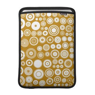 Vintage Cream and white Fifties Abstract Art MacBook Air Sleeve