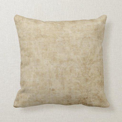 Vintage Cream Damask Pattern Throw Pillow Zazzle