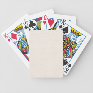 Vintage Cream Parchment Look Old Paper Background Bicycle Playing Cards