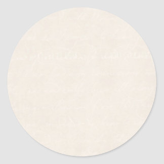 Vintage Cream Parchment Look Old Paper Background Classic Round Sticker