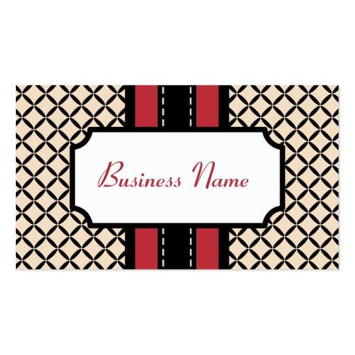 Vintage Cream Pattern Business Card