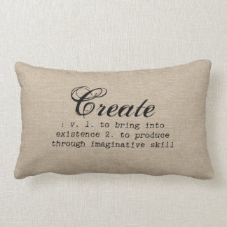 Vintage create definition rustic girly chic brown lumbar pillow