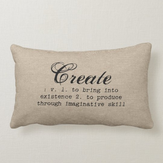 Vintage create definition rustic girly chic brown lumbar pillow ... b6a4964b3a70