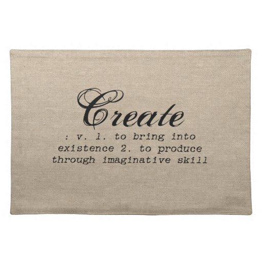 Vintage Create Definition Rustic Girly Chic Brown Placemat