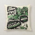 Vintage Creature Monster Spook Show Pillow