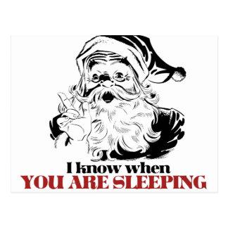 Vintage Creepy Santa Postcard