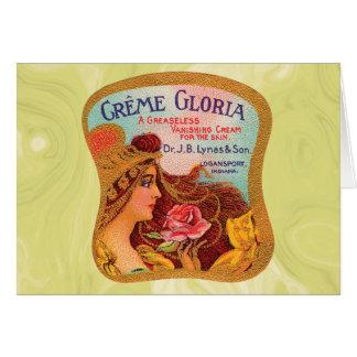Vintage Creme Gloria Vanishing Skin Creme Card