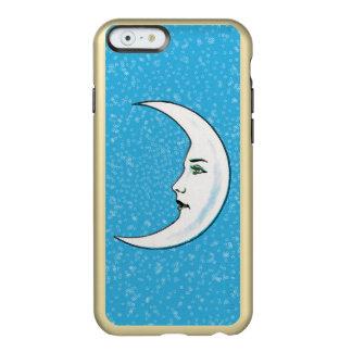 Vintage Crescent White Moon Face White Stars Incipio Feather® Shine iPhone 6 Case