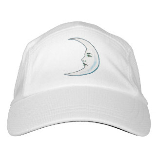 Vintage Crescent White Moon Face White Stars Headsweats Hat