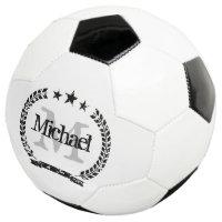 Vintage crest custom name monogram soccer ball