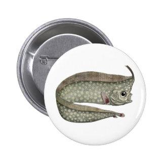 Vintage Crested Oarfish Fish,Marine Aquatic Life, Button