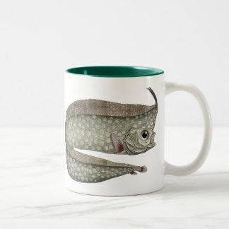 Vintage Crested Oarfish Fish,Marine Aquatic Life, Two-Tone Coffee Mug