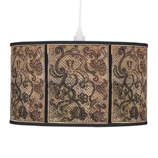 VINTAGE CREWEL ART UK HANGING LAMP
