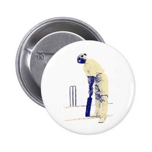 vintage cricketing meerkat. pin