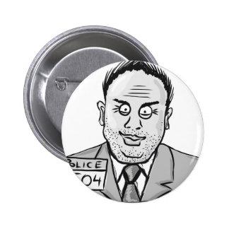 Vintage Criminal Sketch Pinback Button