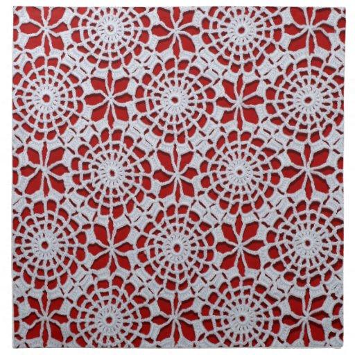 Vintage Crochet Pattern Cloth Napkins Zazzle