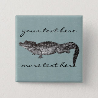 Vintage Crocodile Button