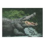 Vintage Crocodile, Marine Animal Life Reptile 5x7 Paper Invitation Card