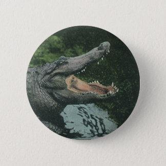 Vintage Crocodile, Marine Animal Life Reptiles Button